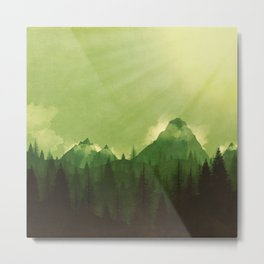 Green Mountains Metal Print