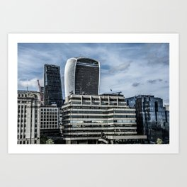 London Walkie Talkie Building and Cheese Grater Building Art Print