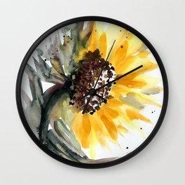 Sunflower for Evie Wall Clock