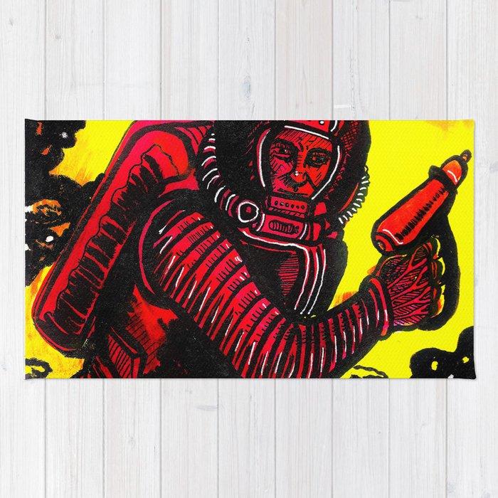 Retro Rocketman Rug