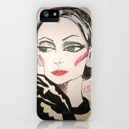 Society Dame iPhone Case