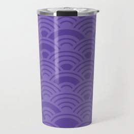 Ultra Violet Color of the Year 2018 Seigaiha seigainami wave of the sea abstract scales Travel Mug