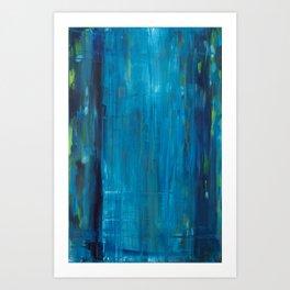 blue vertical Art Print