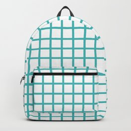 Grid (Teal & White Pattern) Backpack