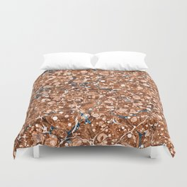 Vintage Marbled Texture - Organic Overdose Duvet Cover