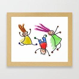 I am still a child Framed Art Print