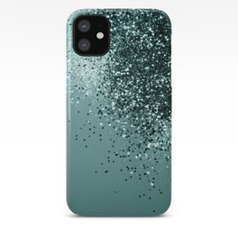 Teal Mermaid Ocean Glitter #1 #shiny #decor #art #society6 iPhone Case