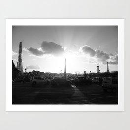 Shinning Concorde Art Print