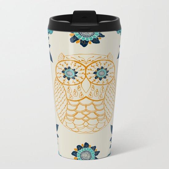 BOHO Owl Metal Travel Mug