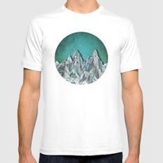 Night Mountains No. 31 White MEDIUM Mens Fitted Tee