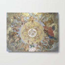 ceiling art of portuguese royal palace Metal Print