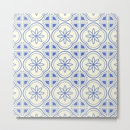 Modern Abstract Flower Pattern Art Print Metal Print