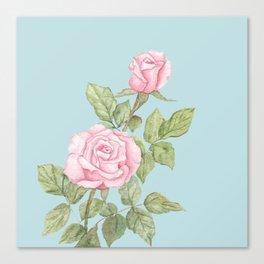 Garden Roses in Bloom Canvas Print