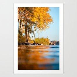 Autumn color reflections Art Print