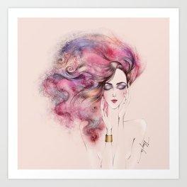 November girl Art Print