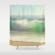 Slowly Rolling Shower Curtain