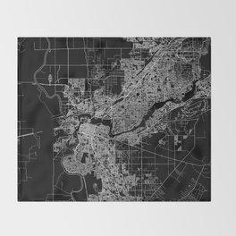 sacramento map Throw Blanket