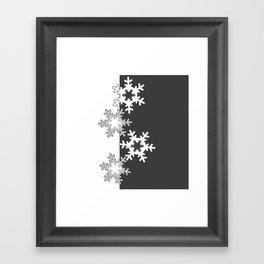 Black and white Christmas pattern Framed Art Print