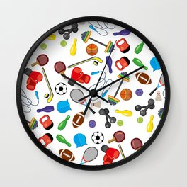 Children's Sport Pattern Wall Clock
