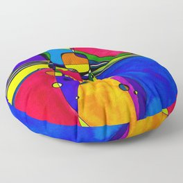 Magical Thinking No. 8A by Kathy Morton Stanion Floor Pillow
