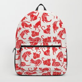 Cat Positions – Red Palette Backpack