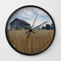ohio Wall Clocks featuring Ohio barn by steve wall