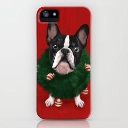 Christmas Bulldog iPhone Case