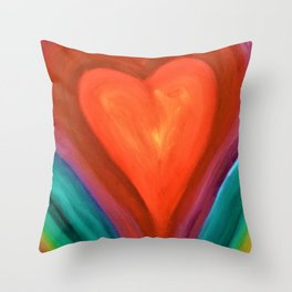 Warm Heart Throw Pillow