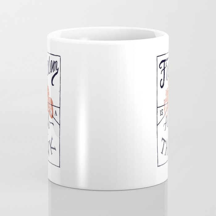 Freedom biker print Coffee Mug