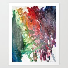 Rainbow Galaxy Art Print