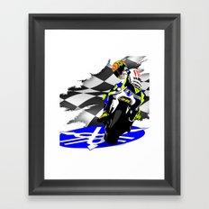 Valentino Rossi Framed Art Print