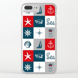 Nautical design 4 Clear iPhone Case