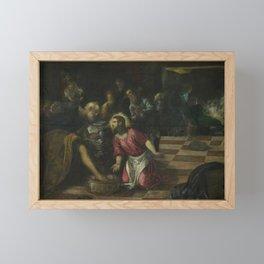 Tintoretto - Christ Washing the Disciples' Feet Framed Mini Art Print