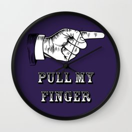 Retro Victorian Style - Pull My Finger - Fart Gag Wall Clock