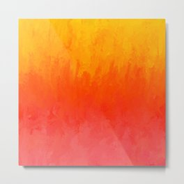 Coral, Guava Pink Abstract Gradient Metal Print