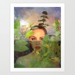 Heart-Blue Eyes of an Ethereal Magnificence Art Print