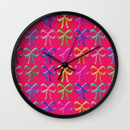 Colorful ribbons pattern Wall Clock