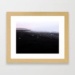 Iceland black beach Framed Art Print
