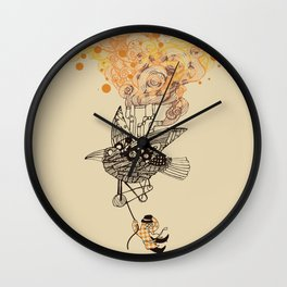 The wacky traveling machine Wall Clock