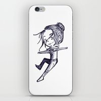 allison argent iPhone & iPod Skins featuring Allison Argent Team Human by aredblush