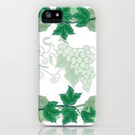 Abstract frame from grapevines iPhone Case