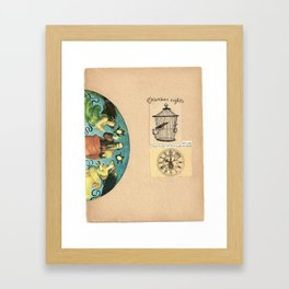 buried youth Framed Art Print