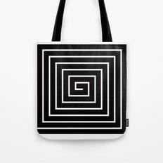 Black & White Spiral Tote Bag