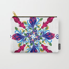 Moroccan Rose Tile Pattern Carry-All Pouch