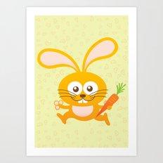 Smiling Little Bunny Art Print