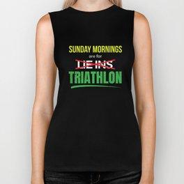 Sunday Mornings Are For Lie-Ins I Mean Triathlon Biker Tank