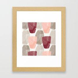 Abstract Vases Framed Art Print