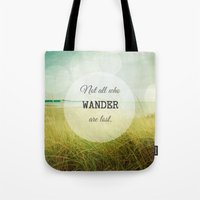 wander Tote Bags featuring Wander by Olivia Joy StClaire