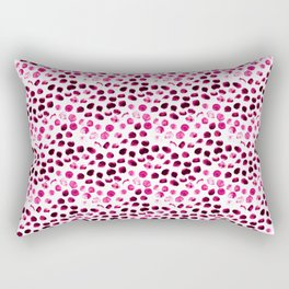 Pink polka dots hand painted illustration pattern. Modern design Rectangular Pillow