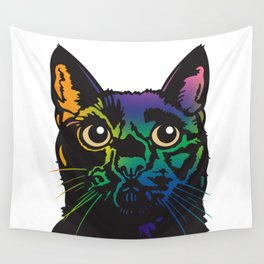 Rainbow Cat Wall Tapestry
